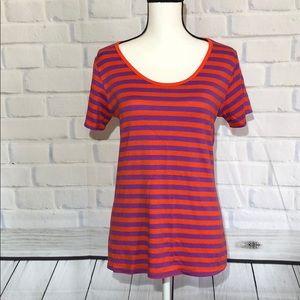 LuLaRoe striped Classic Tee purple/red Medium